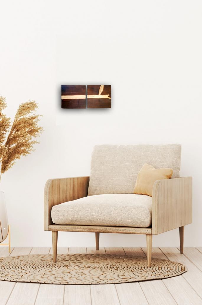 #43A Schwarz-Weiß - Flammenbilder (horizontal) - so könnte das Werk bei Dir zu Hause aussehen